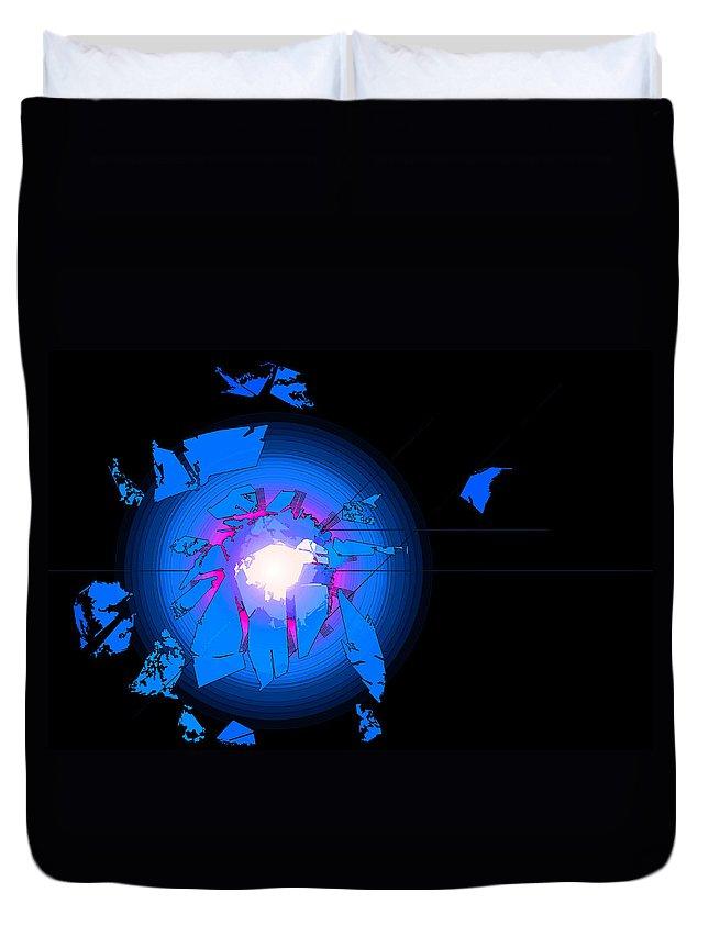 Digital Duvet Cover featuring the digital art Rift by Robert Geary