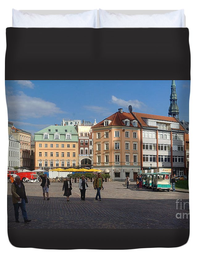 Europe Duvet Cover featuring the photograph Riga Old Town 3 by Rudi Prott