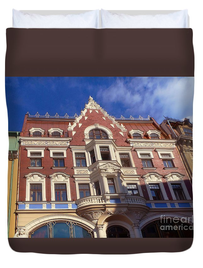 Europe Duvet Cover featuring the photograph Riga Old Town 5 by Rudi Prott