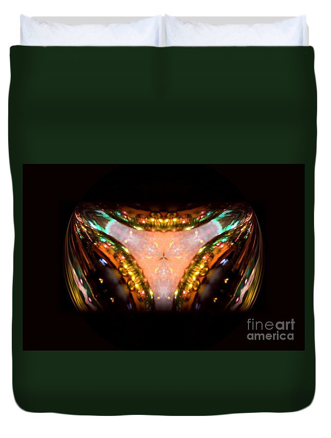 Ring Of Jewels Duvet Cover featuring the digital art Ring Of Jewels by Maria Urso
