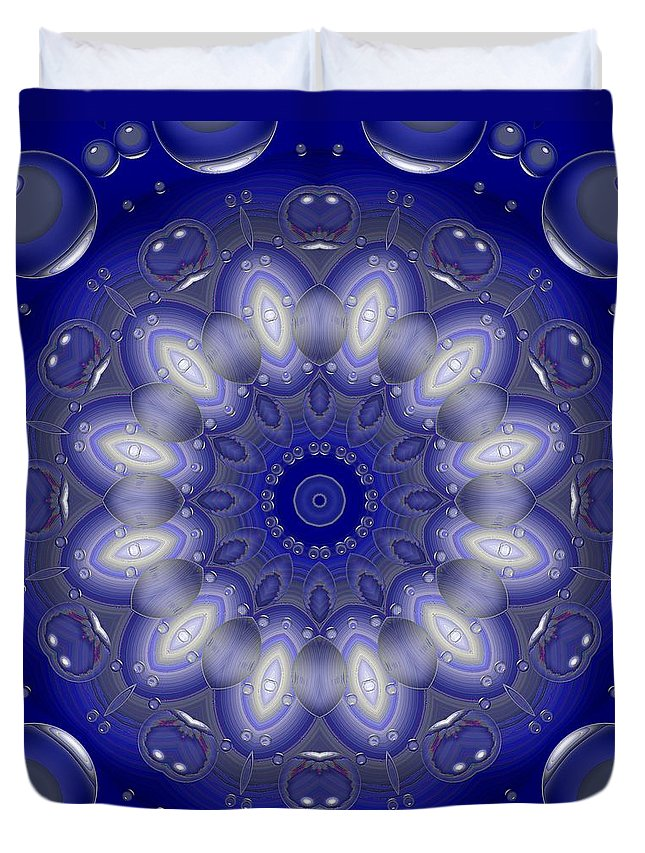 Kaleidoscope Duvet Cover featuring the photograph Ring Of Lights by Lena Photo Art