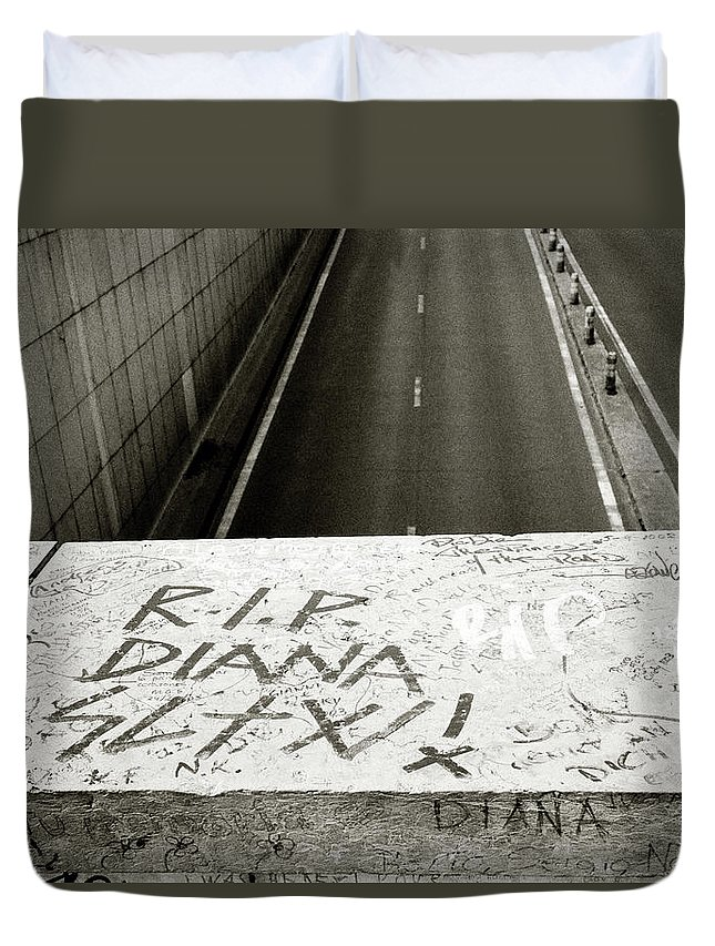 Princess Diana Duvet Cover featuring the photograph Memories Of Diana by Shaun Higson