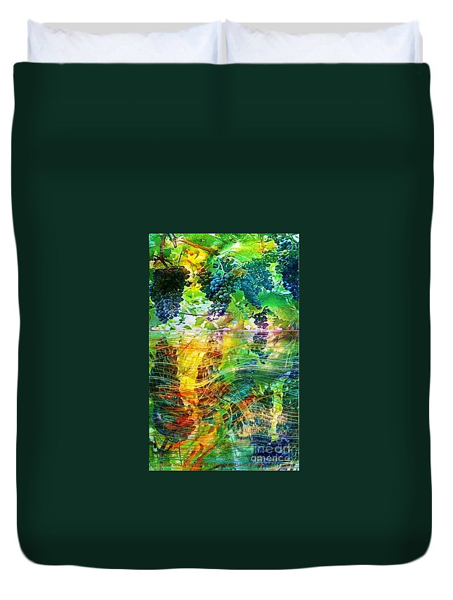 Wine Duvet Cover featuring the painting Ripened Vines by PainterArtist FIN