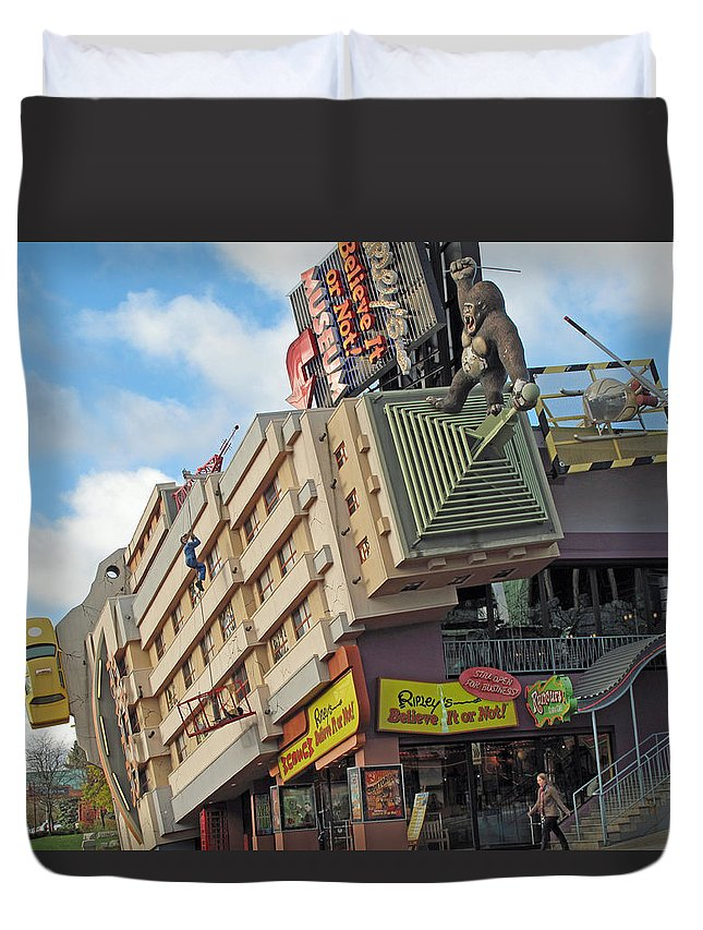 ripley's Believe It Or Not Duvet Cover featuring the photograph Ripley Museum by Barbara McDevitt