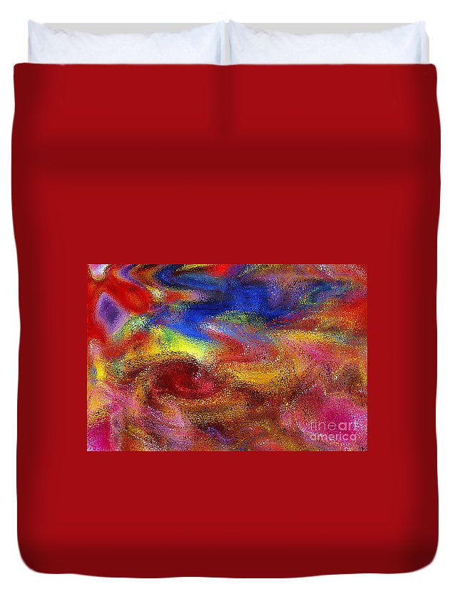 Abstract Duvet Cover featuring the digital art Ripple 2 by Michael Anthony