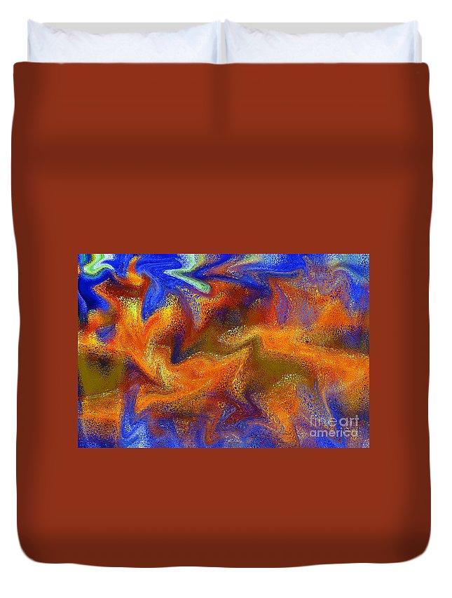 Abstract Duvet Cover featuring the digital art Ripple by Michael Anthony
