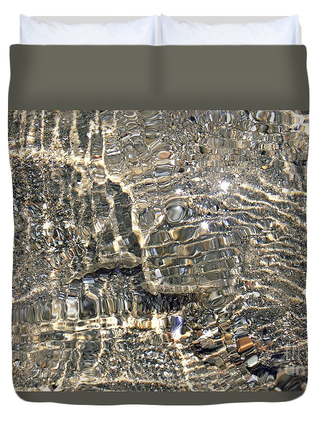 Ripples Sea Shore Duvet Cover featuring the photograph Ripples On The Sea Shore by Julia Gavin
