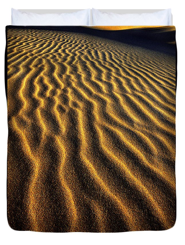 North America Duvet Cover featuring the photograph Ripples Oregon Dunes National Recreation Area by Dave Welling