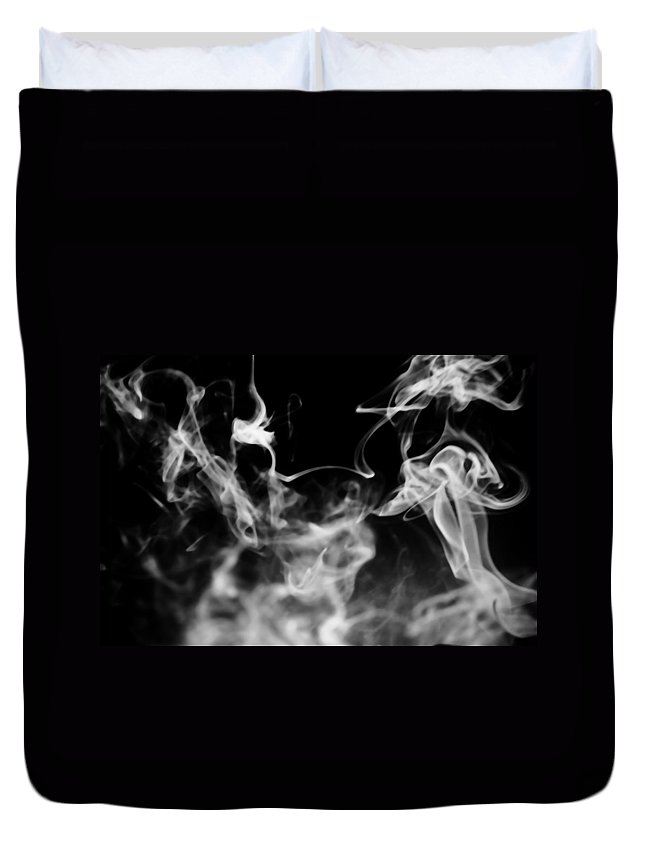 Black Duvet Cover featuring the photograph Rise by Jessica Shelton