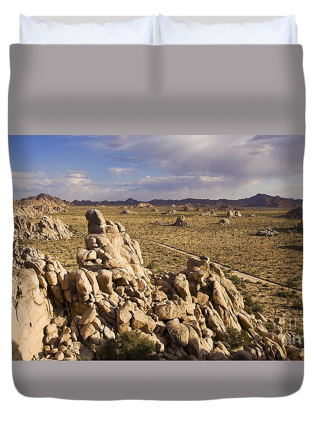 Gneis Rock Duvet Cover featuring the photograph Rise Of Gneis Rock Formations by B Christopher