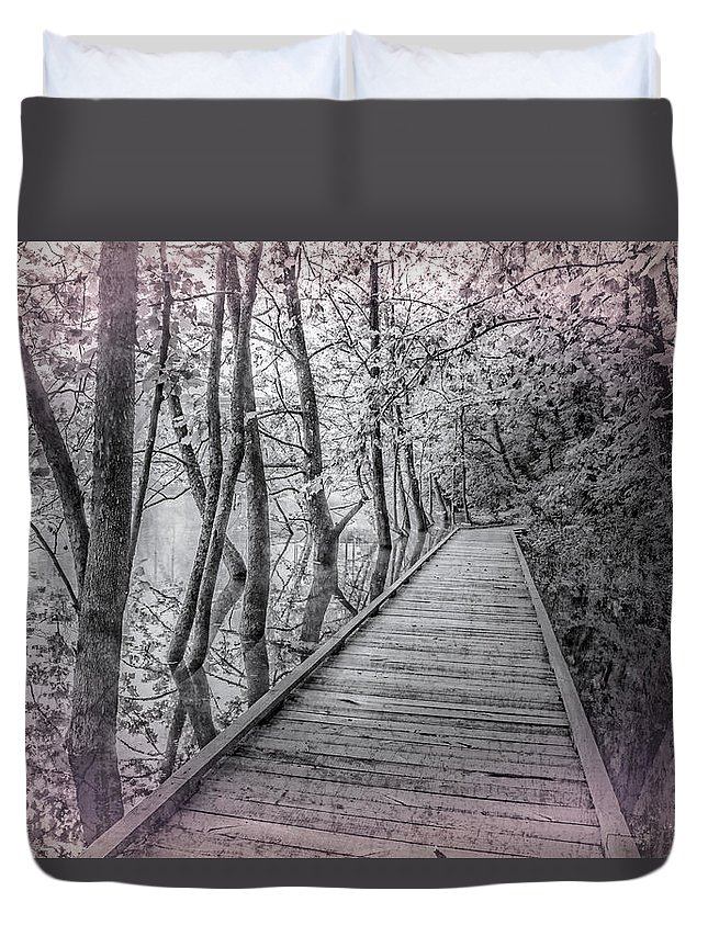 Appalachia Duvet Cover featuring the photograph River Of Dreams by Debra and Dave Vanderlaan