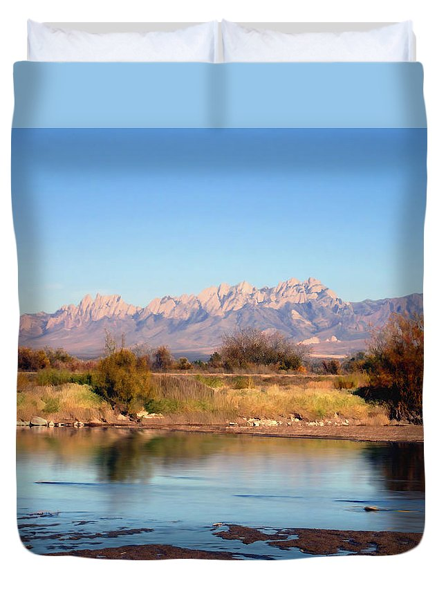 River Duvet Cover featuring the photograph River View Mesilla by Kurt Van Wagner