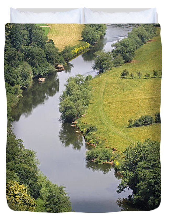 River Wye Duvet Cover featuring the photograph River Wye by Tony Murtagh