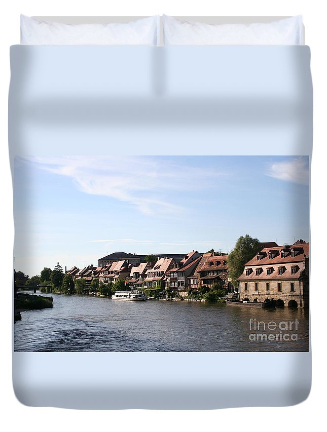 River Duvet Cover featuring the photograph Riverside Of Bamberg - Germany by Christiane Schulze Art And Photography