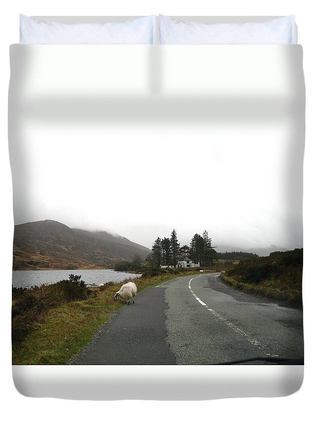 Ireland Duvet Cover featuring the photograph Road To Kenmare Ireland by Margaret Hodgson