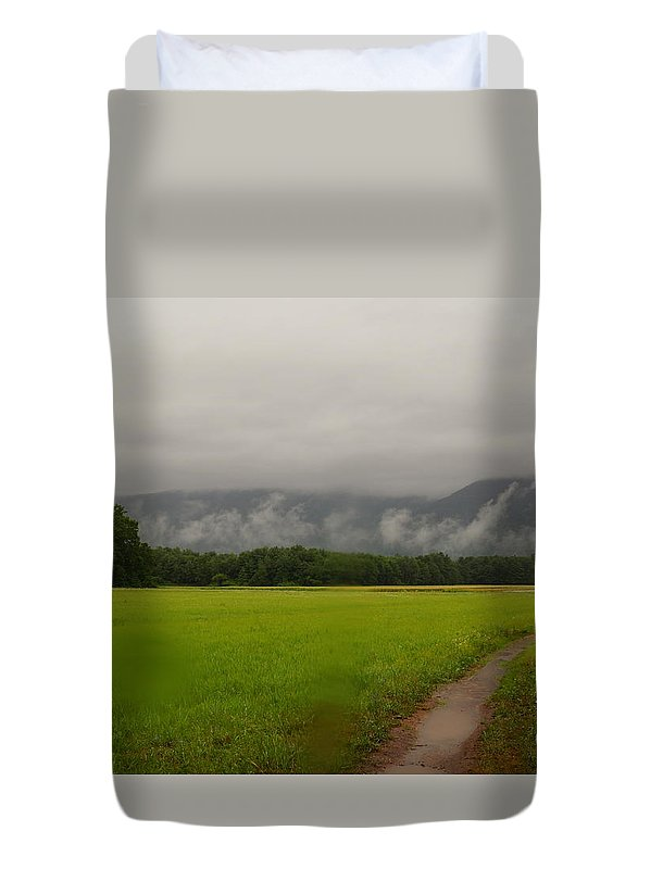 Landscape Duvet Cover featuring the photograph Road To Nowhere by Jeffery L Bowers