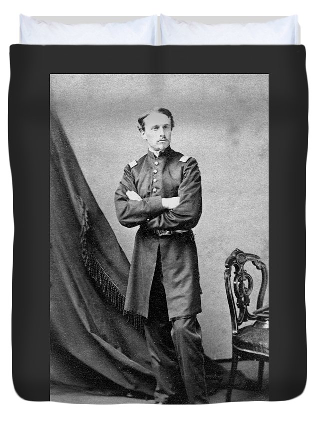 Robert Gould Shaw Duvet Cover featuring the photograph Robert Gould Shaw by War Is Hell Store