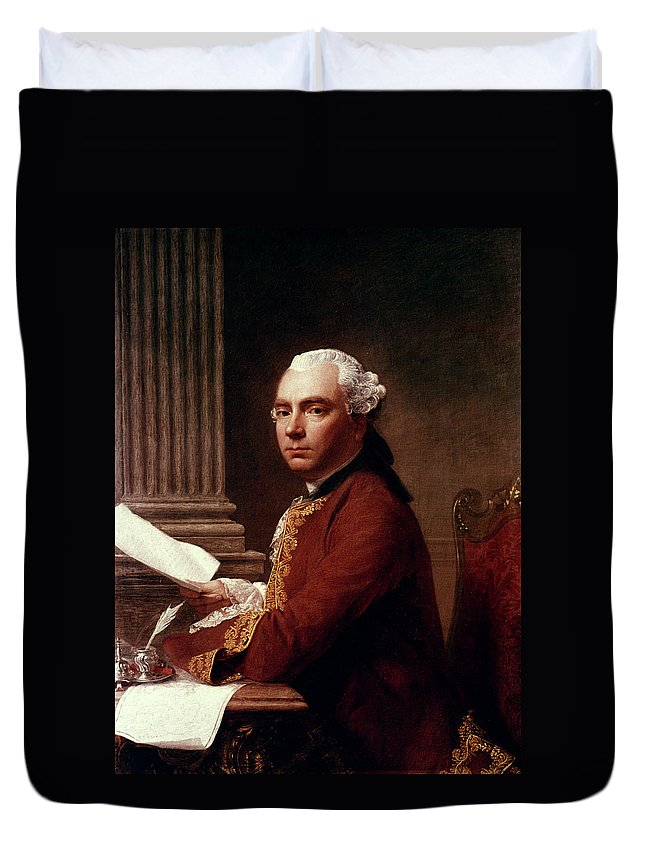 1755 Duvet Cover featuring the painting Robert Wood (c1717-1771) by Granger