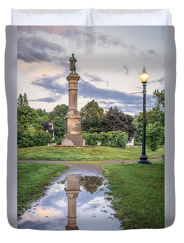 Duvet Cover featuring the photograph Rochester Reflection by Scott Thorp