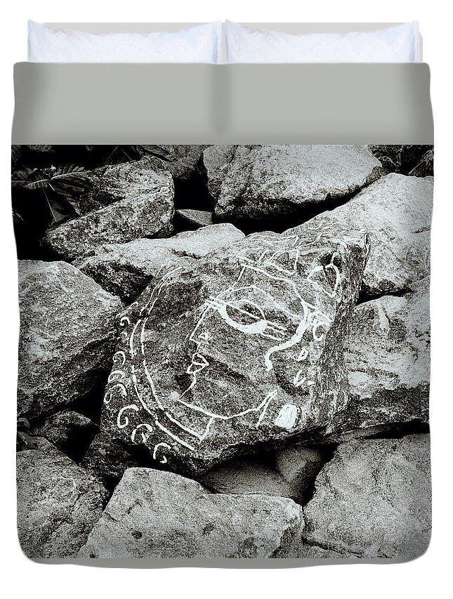 Rock Duvet Cover featuring the photograph Rock Art by Shaun Higson