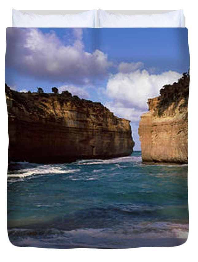 Photography Duvet Cover featuring the photograph Rock Formations In The Ocean, Loch Ard by Panoramic Images