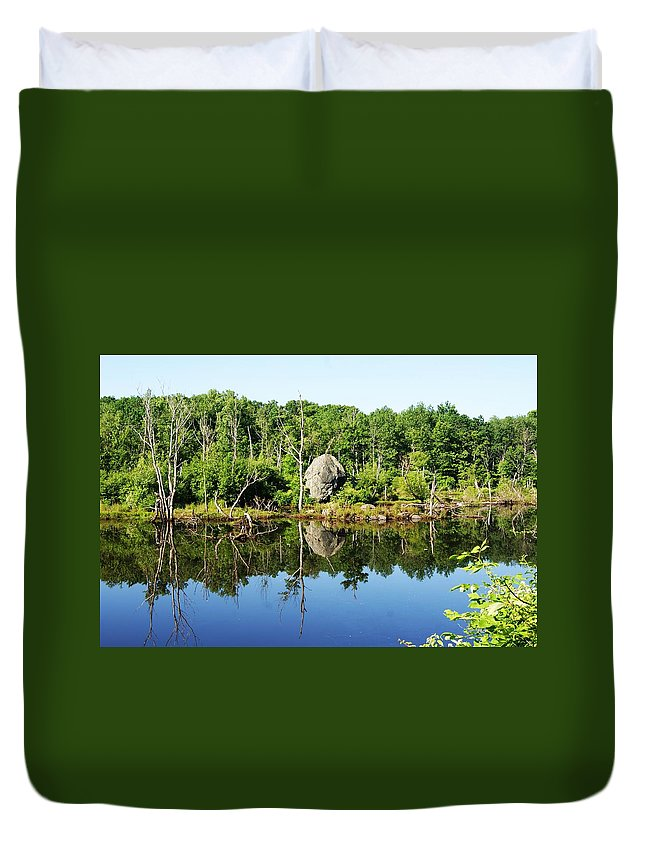 Rock Duvet Cover featuring the photograph Rock I by Joe Faherty