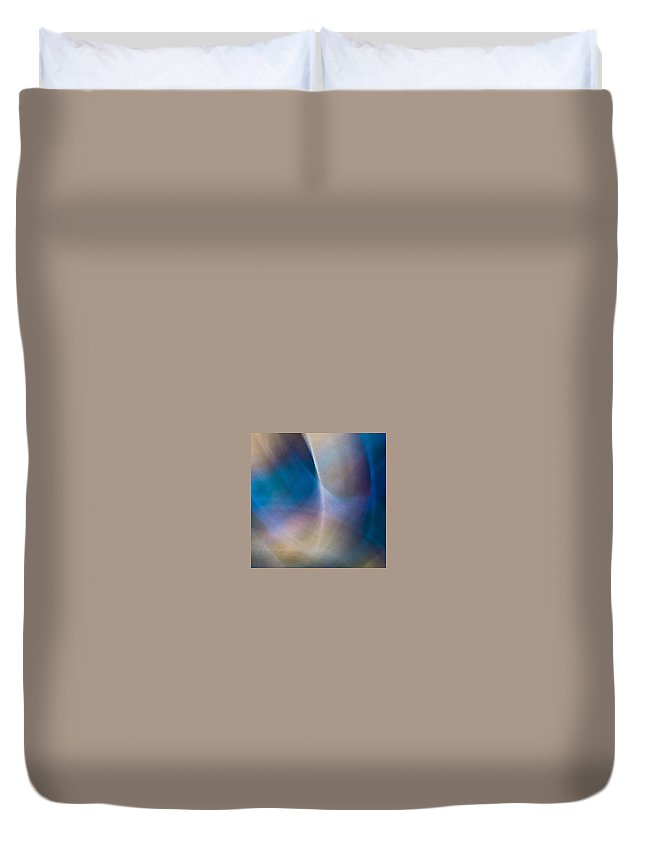 Duvet Cover featuring the photograph Rock Lightpaintings - Rainbow Fluorite I - 1 Of 4 by Dave Markman