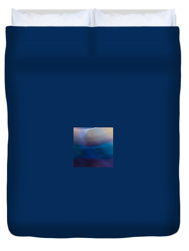 Duvet Cover featuring the photograph Rock Lightpaintings - Rainbow Fluorite I - 2 Of 4 by Dave Markman