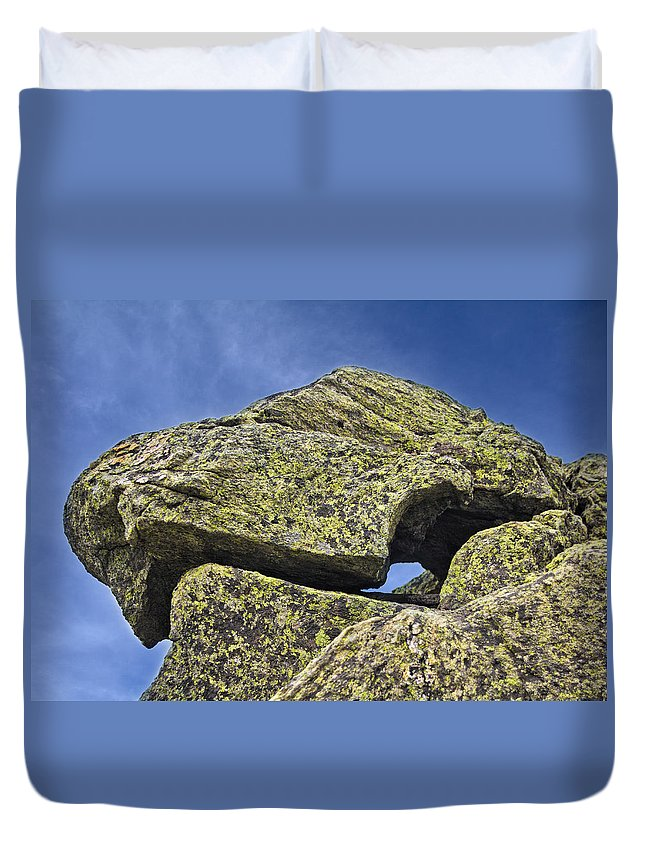 Rock Puzzle Duvet Cover featuring the photograph Rock Puzzle by Jemmy Archer