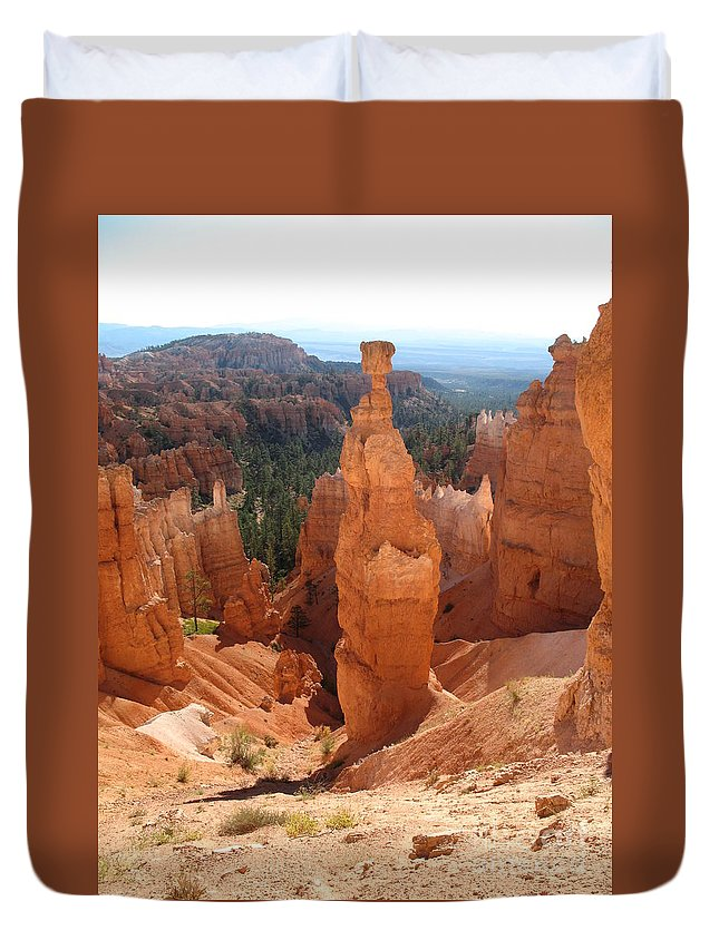 Rocks Duvet Cover featuring the photograph Rockformation Bryce Canyon by Christiane Schulze Art And Photography