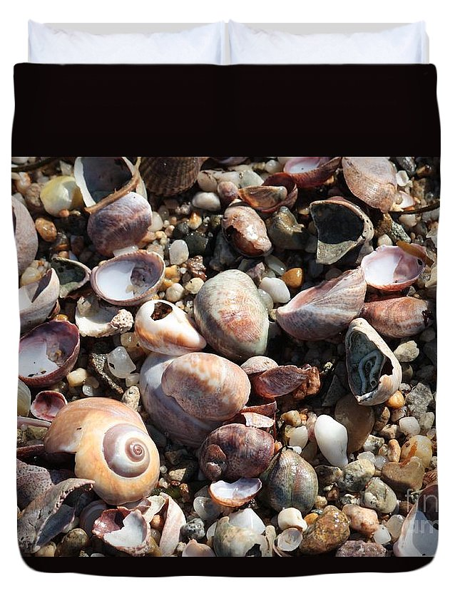 Rocks Duvet Cover featuring the photograph Rocks And Shells by Carol Groenen