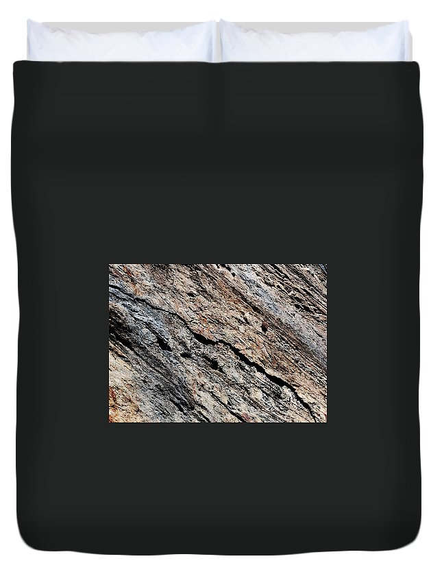 Texture Duvet Cover featuring the photograph Rocks Texture by Gina Dsgn