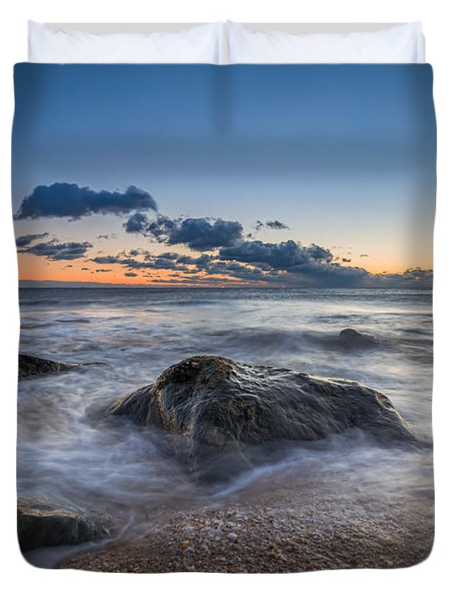 Michael Ver Sprill Duvet Cover featuring the photograph Rocky Sunrise by Michael Ver Sprill