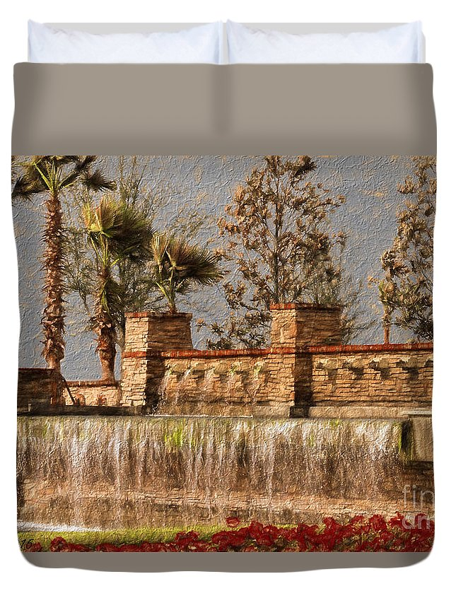 Manatee Duvet Cover featuring the photograph Rocky Waterscape by Sue Karski