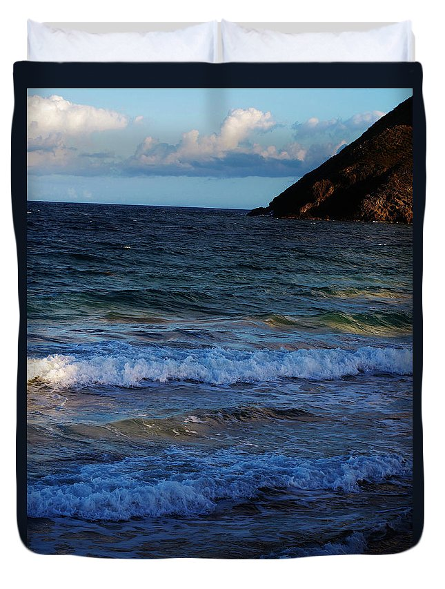 Ocean Duvet Cover featuring the photograph Rolling In by Ian MacDonald