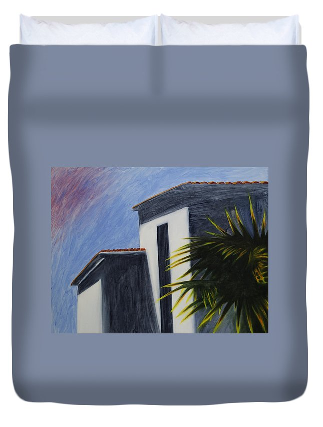 House Duvet Cover featuring the painting Roman by Daniel P Cronin