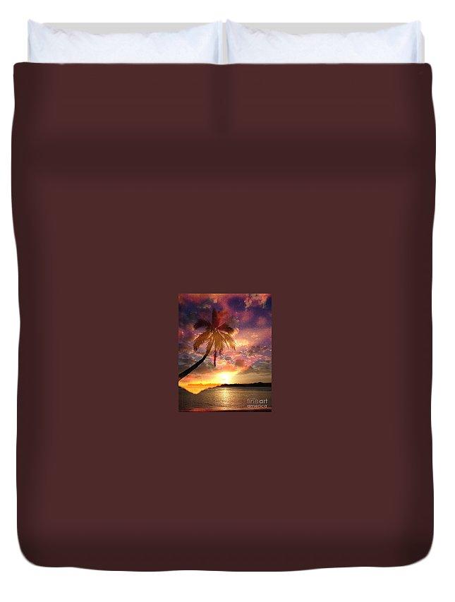 Landscape Duvet Cover featuring the digital art Romance by Yael VanGruber