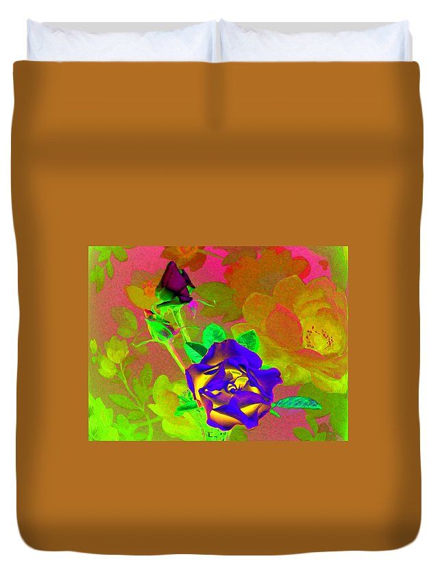 Romancing The Rose Duvet Cover featuring the digital art Romancing The Rose by Will Borden