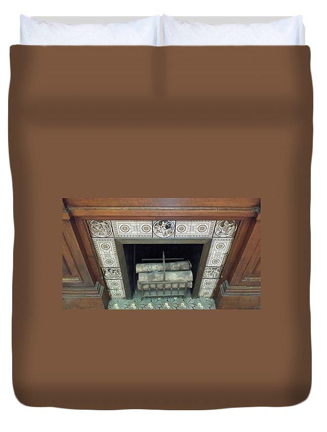 Building Duvet Cover featuring the photograph Romantic Militaria Mantelpiece by Mark Victors