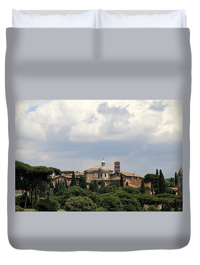 Rome Duvet Cover featuring the photograph Rome 1 by Andrew Fare