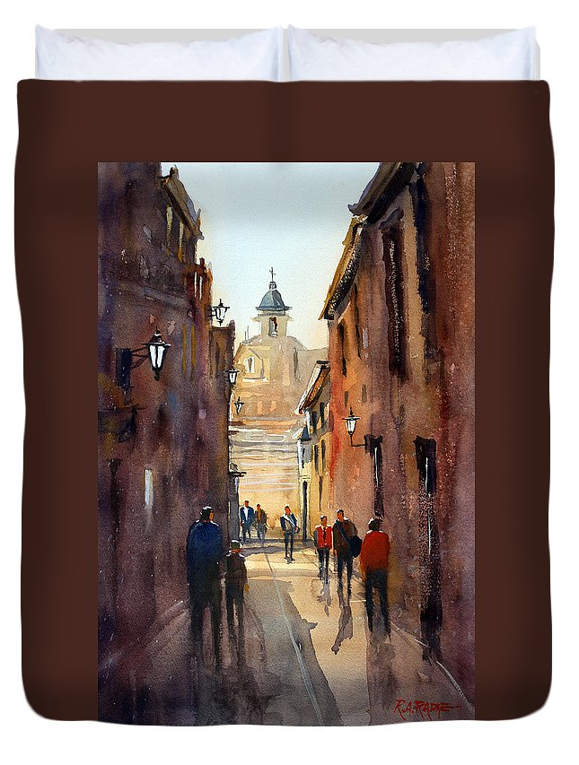 Ryan Radke Duvet Cover featuring the painting Rome by Ryan Radke