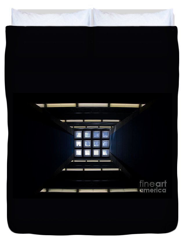 Roof Duvet Cover featuring the photograph Roof Window by Mats Silvan