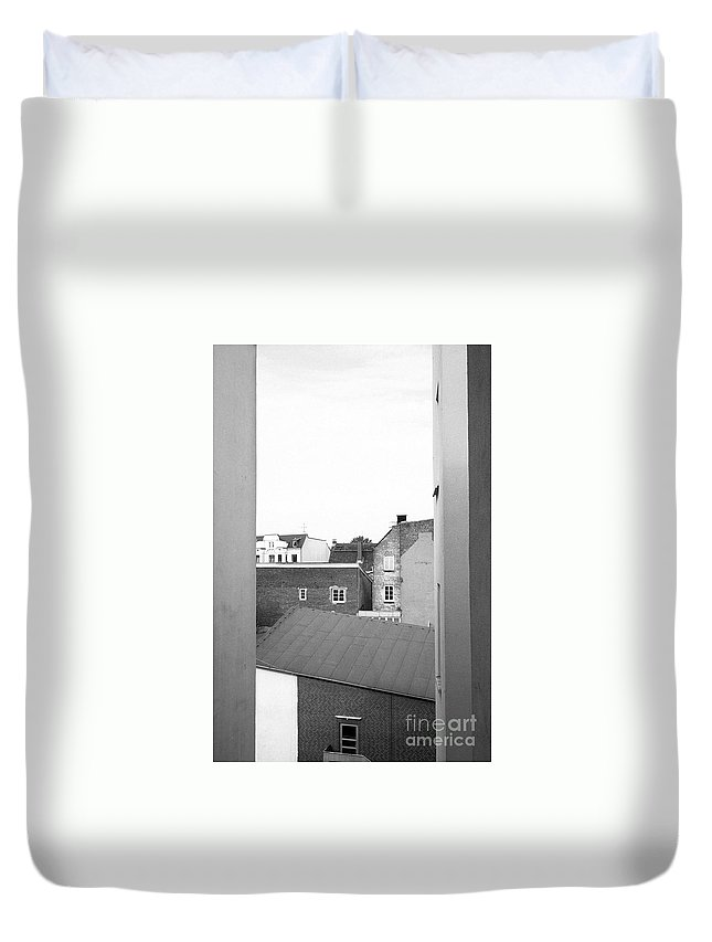 Analog Duvet Cover featuring the photograph Roofs by Jannis Werner