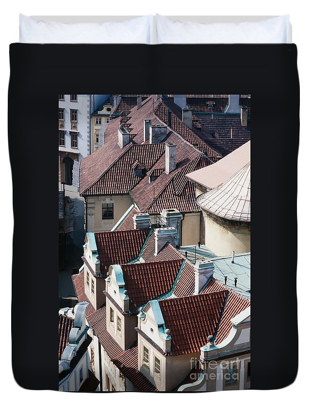 Apartments Duvet Cover featuring the photograph Rooftops Of Prague In Czechia Europe by Stephan Pietzko
