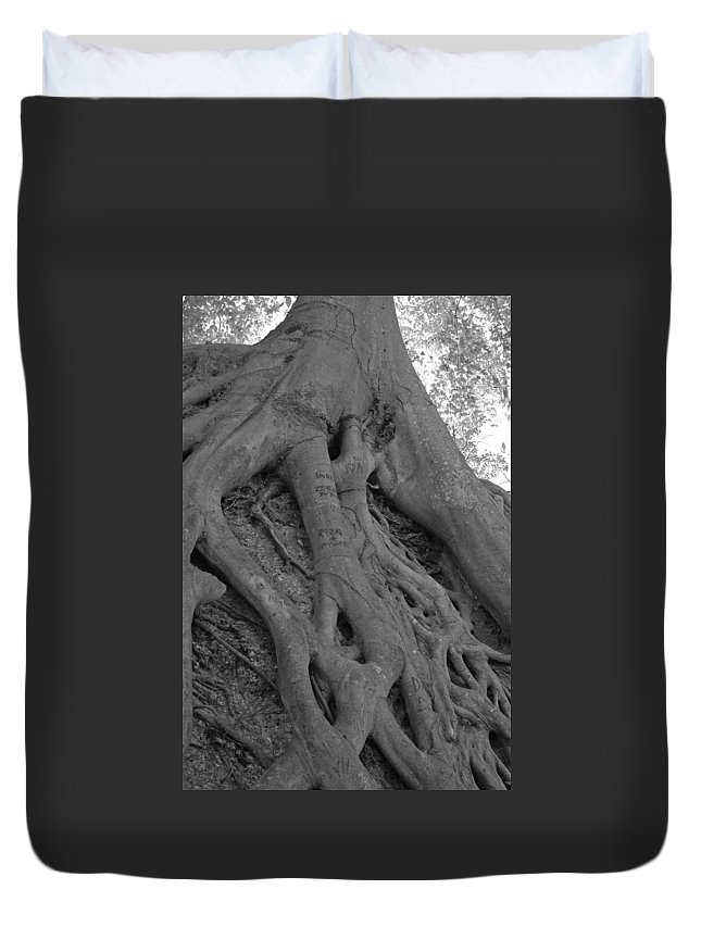 Tree Duvet Cover featuring the photograph Roots II by Suzanne Gaff