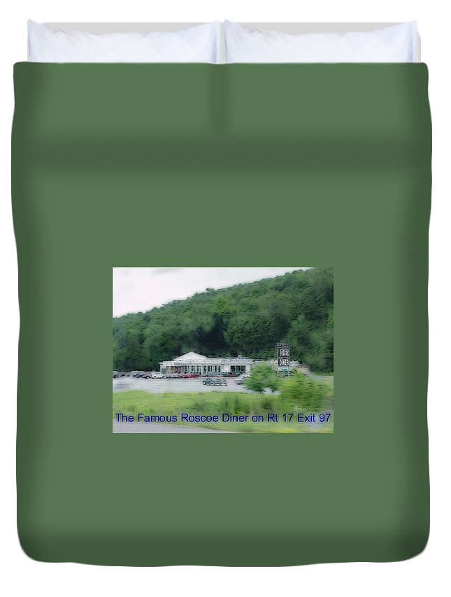 Diner Duvet Cover featuring the photograph Roscoe Ny Diner by Ericamaxine Price