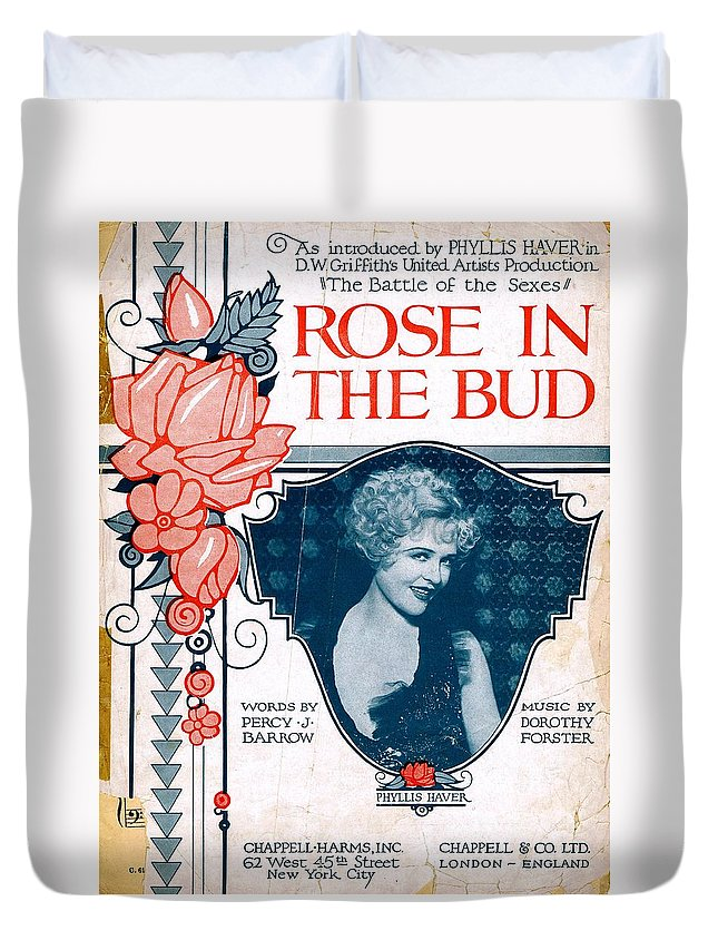 Nostalgia Duvet Cover featuring the photograph Rose In The Bud by Mel Thompson