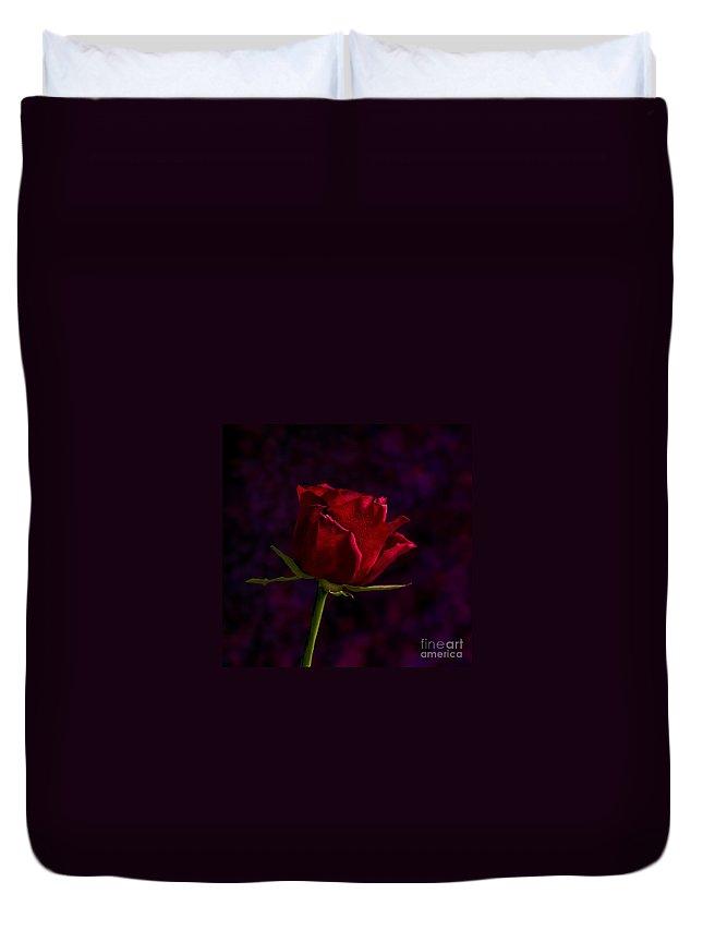 Digital Duvet Cover featuring the digital art Rose by Matt Malloy