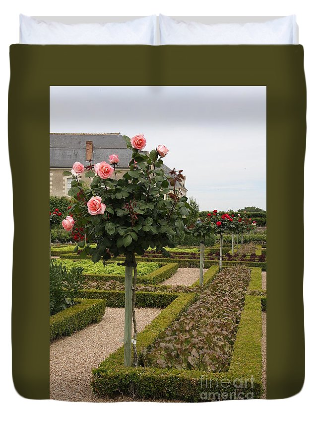 Roses Duvet Cover featuring the photograph Roses And Salad - Chateau Villandry by Christiane Schulze Art And Photography