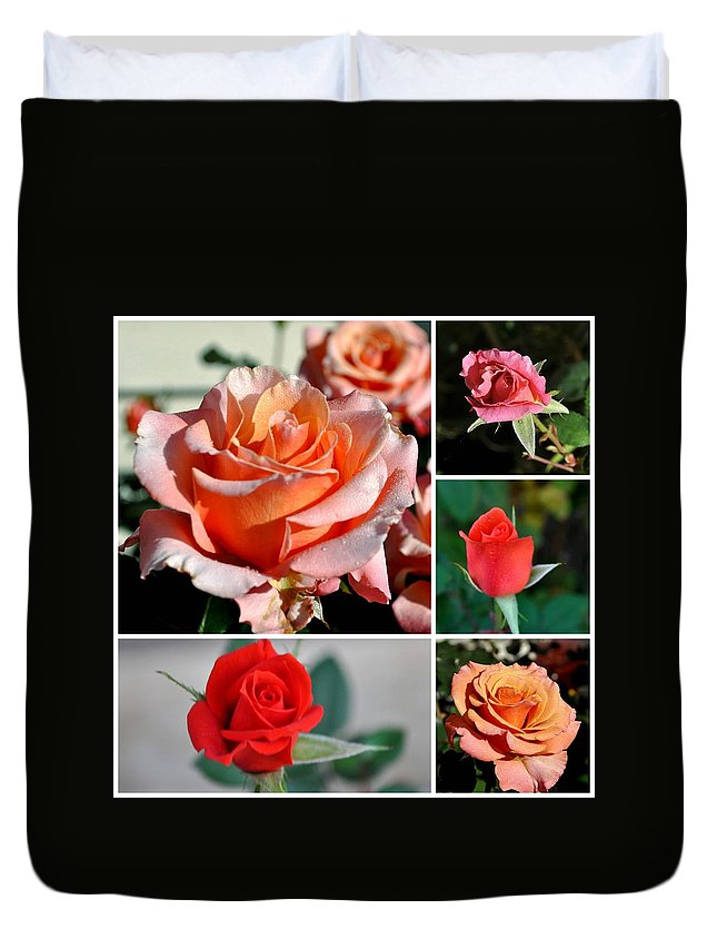 Flower Duvet Cover featuring the photograph Roses Roses Roses I Thank All The Roses by Jay Milo